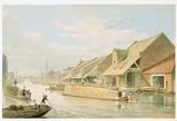 City Basin, Regent's Canal: 1825