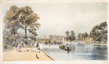 Buckingham Palace from St James's Park: 1842