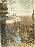 Bird's Eye View from the Staircase & the Upper Part of the Pavilion in the Colosseum, Regent's Park:1829