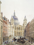 St. Paul's, looking up Ludgate Hill: 1852