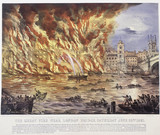 The Great Fire near London Bridge: 1861