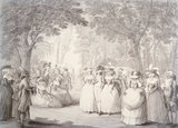 The Gardens of Carlton House with Neapolitan Ballad Singers: 18th century