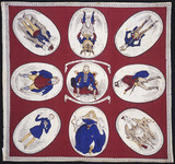 George IV commemorative handkerchief: 19th century