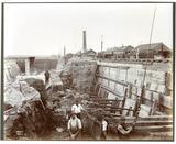 Extending the Western Dry Dock of the Royal Albert docks: 1913