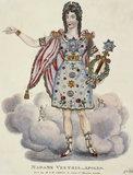 Tinsel portrait Madame Vestris as Apollo: 19th century