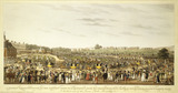 A Correct Representation of the Company going to and returning from His Majesty's Drawing Room at Buckingham Palace, St James's Park - A Distant View of the Green Park, Piccadillly &c: 1822