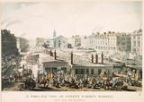 A Bird's Eye View of Covent Garden Market, Taken from the Hummums: 1811