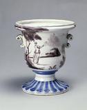 Tin-glazed earthenware vase: 16th-18th century