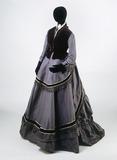 Dress ensemble, front view: 19th century