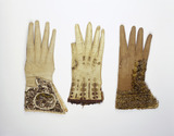 Selection of men's gloves: 17th century