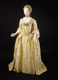 Dress, robe and matching underskirt, front view: 18th century