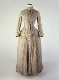 Brushed cotton printed dress: 19th century