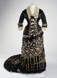 Princess line dress, front view: 19th century