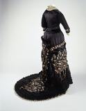 Princess line dress, back view: 19th century