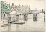 Battersea Bridge (Old Chelsea Bridge): 19th century