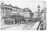 Waterloo Bridge and Lancaster Place: 1915
