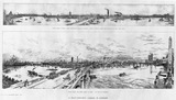 A Half Century's Change in London: View from a point near Waterloo Bridge in 1848; View from the same point in 1898