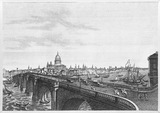 Vue de Londres, prise d'Albion Place: 18th century