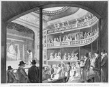 Interior of the Regency Theatre: 1817
