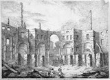 Ruins of the Pantheon after the fire which happen'd the 14th Jan'y 1792