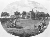 Trap Ball, played at the Black Prince, Newington Butts: 1788