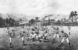 A Rugby Match: 19th century