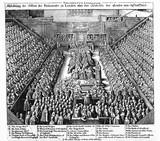 Abbildung des Session des Parlaments zu Londen uber den Sententz des Brafen von Strafford