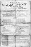 St Marylebone parish notice: 1811