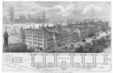 New Street, Thomas Hospital, Opened by the Queen last Wednesday: 1871