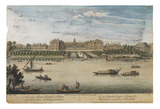 A view of the Royal Hospital at Chelsea and the Rotunda in Ranelagh Gardens: 1744