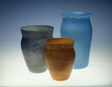 Selection of Whitefriars cloudy vases: 20th century