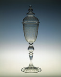 Lidded engraved goblet: 19th century