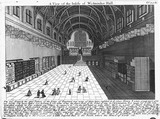 A view of the inside of Westminster Hall: 18th century
