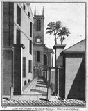 The West Prospect of the Parish Church of St. Olave in the Old Jewry: 1756