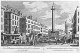 A View of the Monument erected in Memory of the dreadfull Fire in the Year 1666.  It is 202 Feet high:18th century