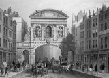 Temple Bar from the Strand: 1854