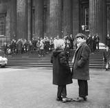 School children visit the British Museum: 1969