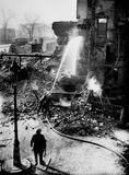 City bomb damage at Circus, Minories: 1940