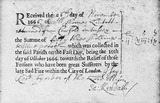 Receipt for Fire Relief Fund: 1666