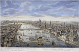 A General View of the City of London, Next the River Thames: 18th century