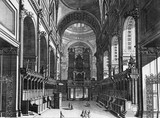 The Inside of the Choir of Ye Cathedral Church of St Paul's, London: 18th century