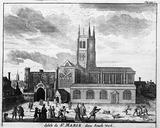 Eglise de St Marie dans Southwark: 17th-18th century