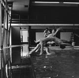 Boys' swimming lesson, Holland Park Comprehensive School: 1959 -1966