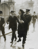 Emmeline Pankhurst being arrested while trying to present a petition to the King: 1914