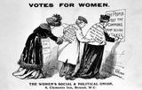 Pro-suffrage propoganda postcard: 1910