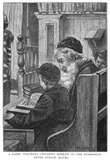 A Rabbi teaching Hebrew: 1891