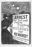 Advert for Hudson's soap: 1888