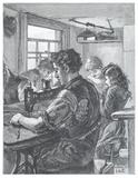 Jewish tailor's workshop: 1891