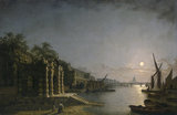 York Water Gate and the Adelphi from the River, by Moonlight: 1845-1860