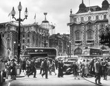 Piccadilly Circus, Coronation day, June 1953